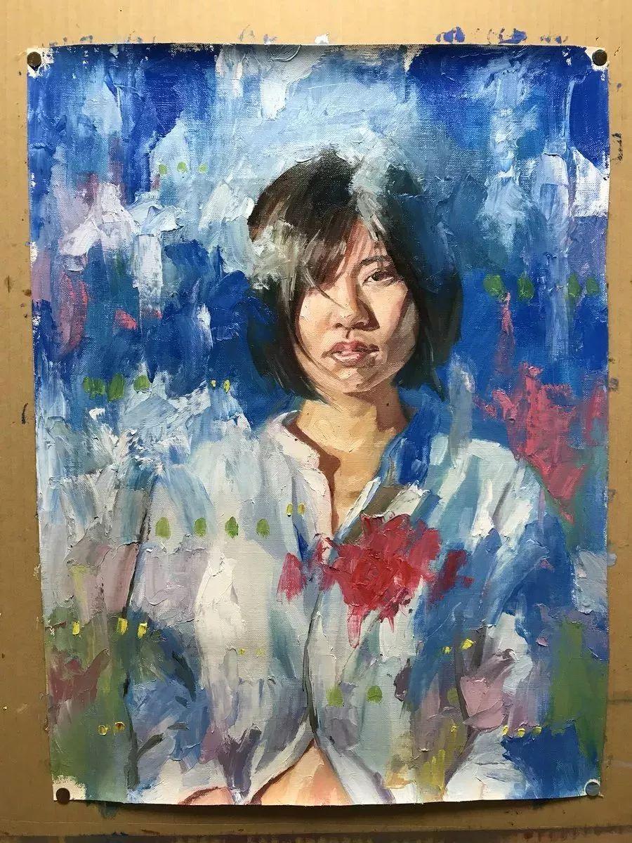 因画了一幅水中的女子,日本80后小伙成了新晋绘画大神插图51