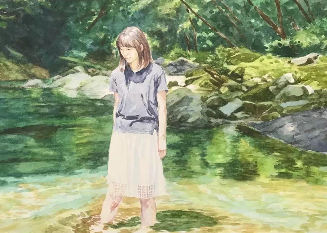 因画了一幅水中的女子,日本80后小伙成了新晋绘画大神插图115