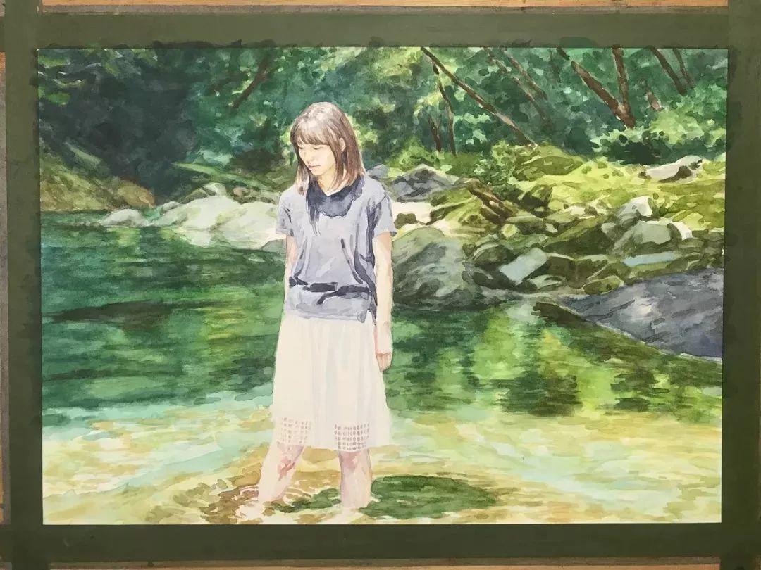 因画了一幅水中的女子,日本80后小伙成了新晋绘画大神插图117