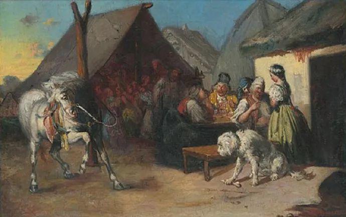 匈牙利-蒙卡奇,19世纪匈牙利民族绘画的领袖插图10