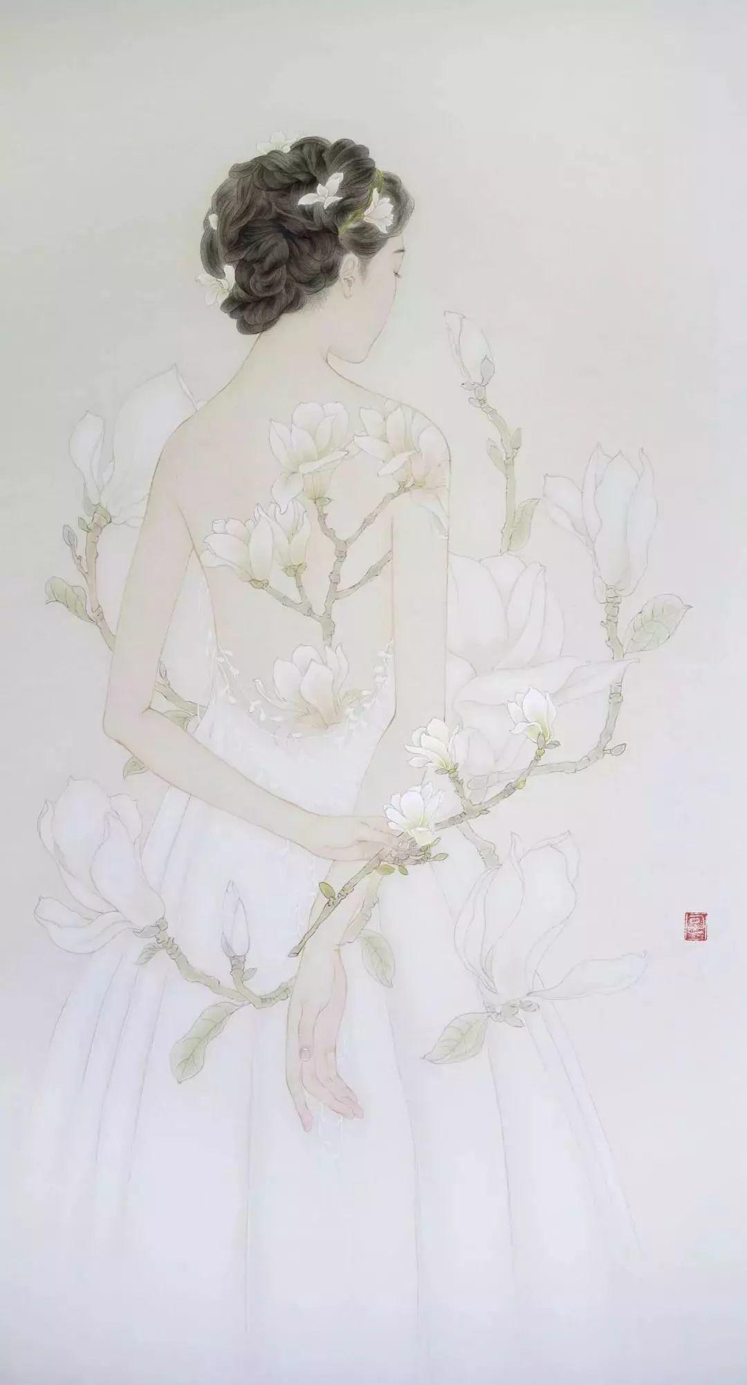 一位全职妈妈的画,惊艳了画坛!插图50