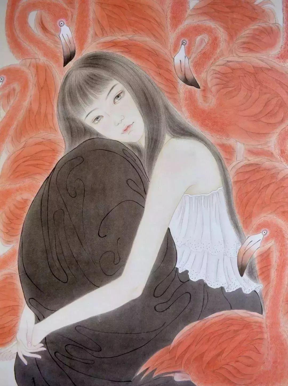 一位全职妈妈的画,惊艳了画坛!插图83