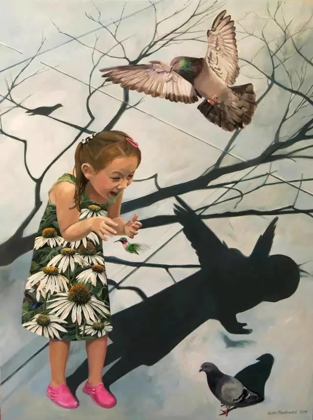 魔幻现实主义的绘画,每幅画好像都是一个奇幻故事插图
