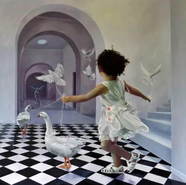 魔幻现实主义的绘画,每幅画好像都是一个奇幻故事插图9
