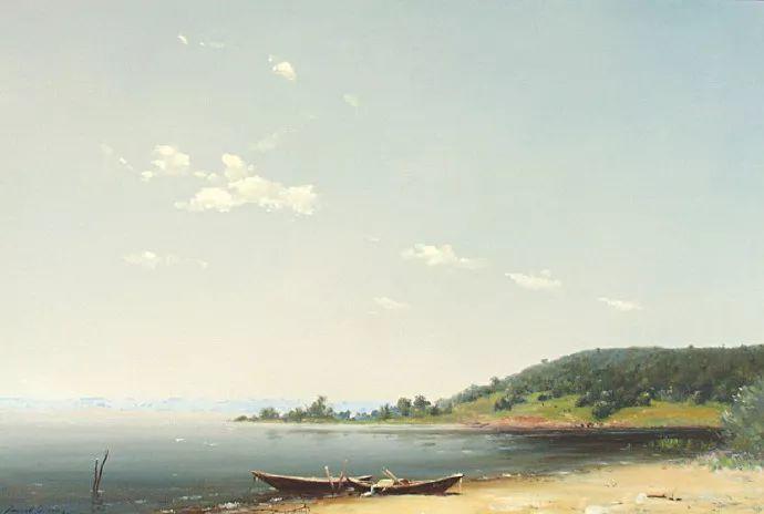 简约清爽风景油画,这构图美极了插图4