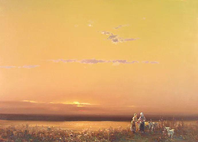 简约清爽风景油画,这构图美极了插图6