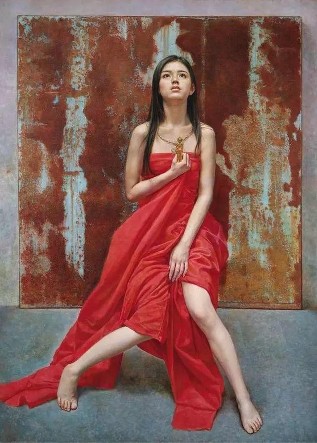 他的作品细腻而感人,画中的女孩充满着古典气质插图5