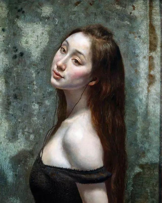 他的作品细腻而感人,画中的女孩充满着古典气质插图7