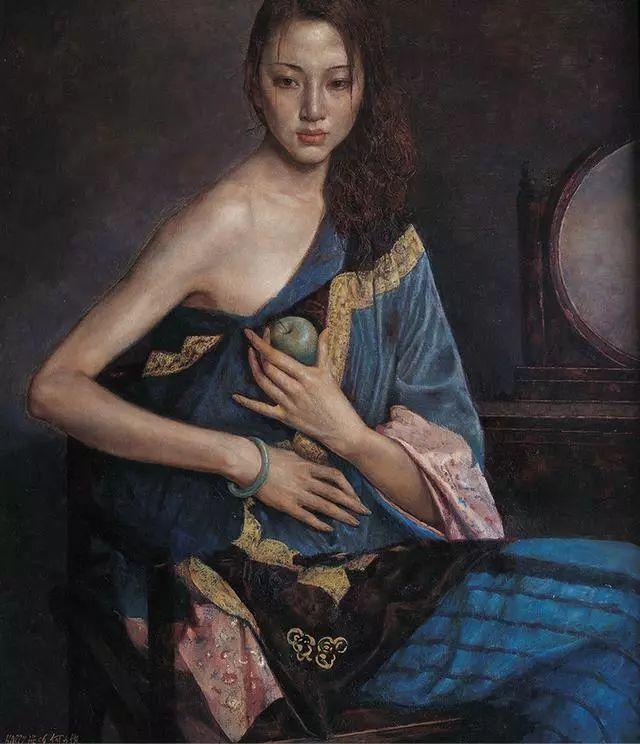 他的作品细腻而感人,画中的女孩充满着古典气质插图9