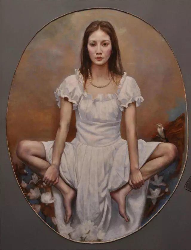 他的作品细腻而感人,画中的女孩充满着古典气质插图13