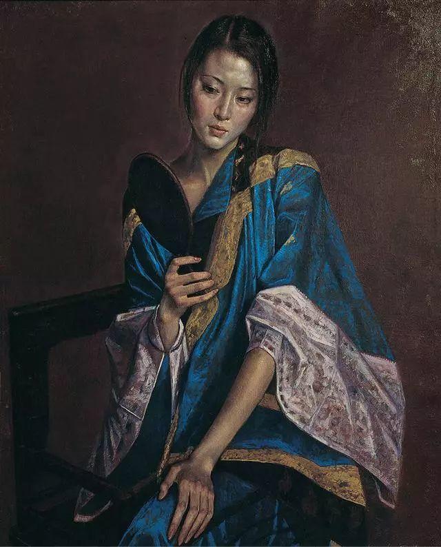 他的作品细腻而感人,画中的女孩充满着古典气质插图15