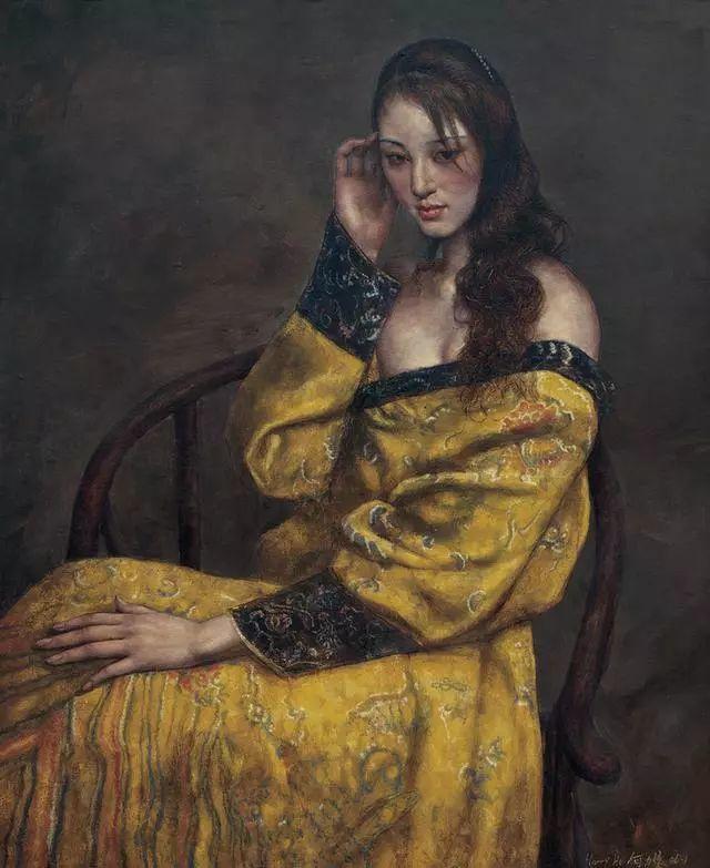 他的作品细腻而感人,画中的女孩充满着古典气质插图17
