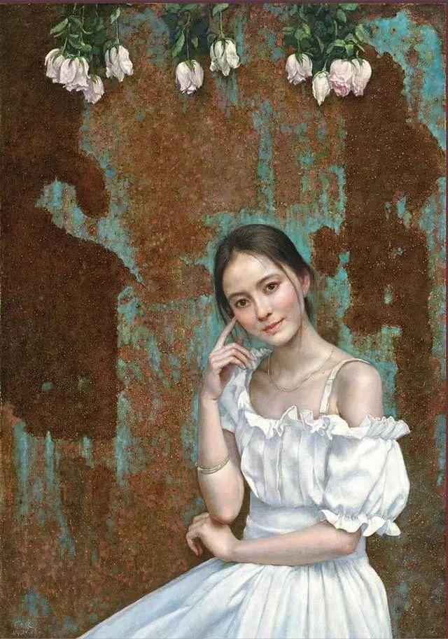 他的作品细腻而感人,画中的女孩充满着古典气质插图19