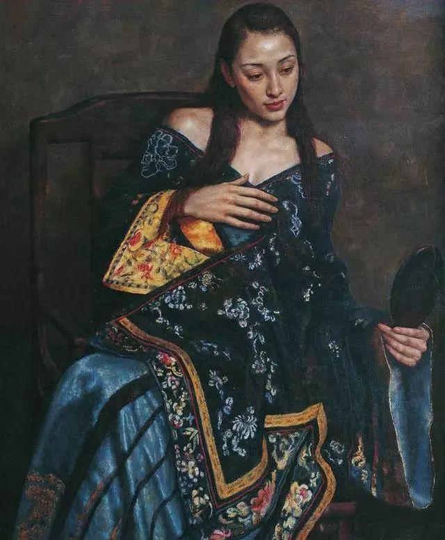 他的作品细腻而感人,画中的女孩充满着古典气质插图21