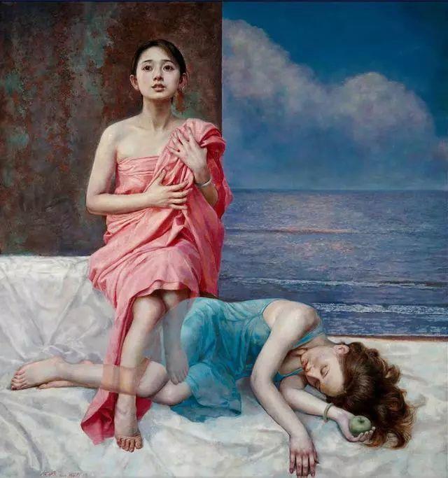 他的作品细腻而感人,画中的女孩充满着古典气质插图23