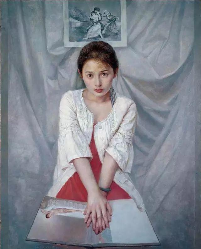 他的作品细腻而感人,画中的女孩充满着古典气质插图25
