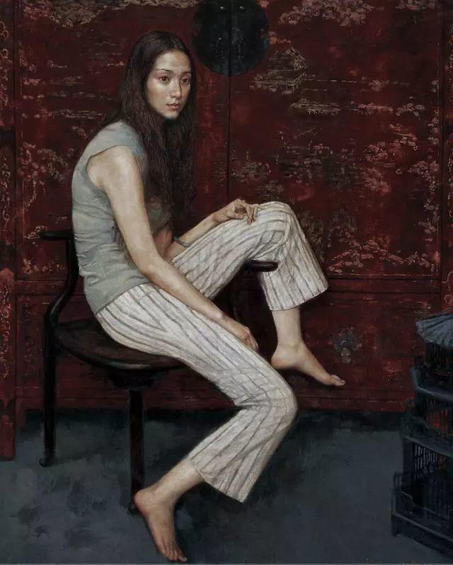 他的作品细腻而感人,画中的女孩充满着古典气质插图29