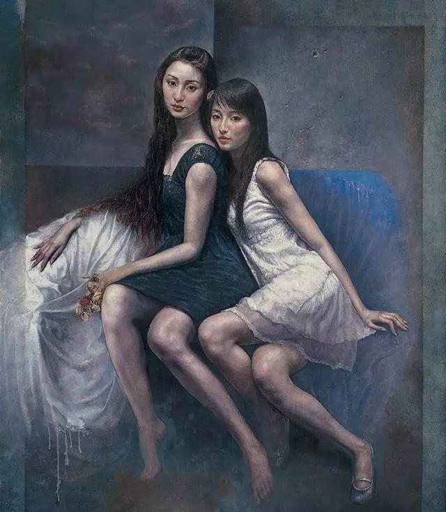 他的作品细腻而感人,画中的女孩充满着古典气质插图31