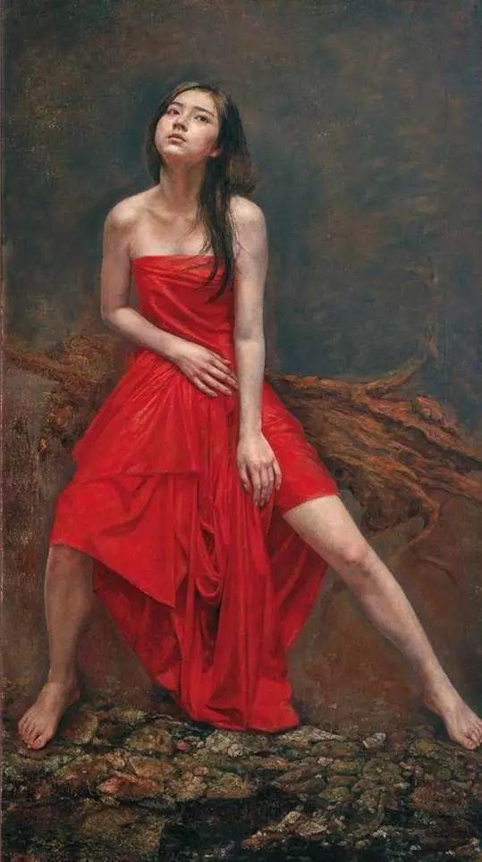 他的作品细腻而感人,画中的女孩充满着古典气质插图33