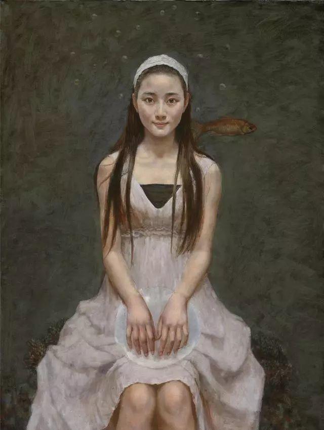 他的作品细腻而感人,画中的女孩充满着古典气质插图39