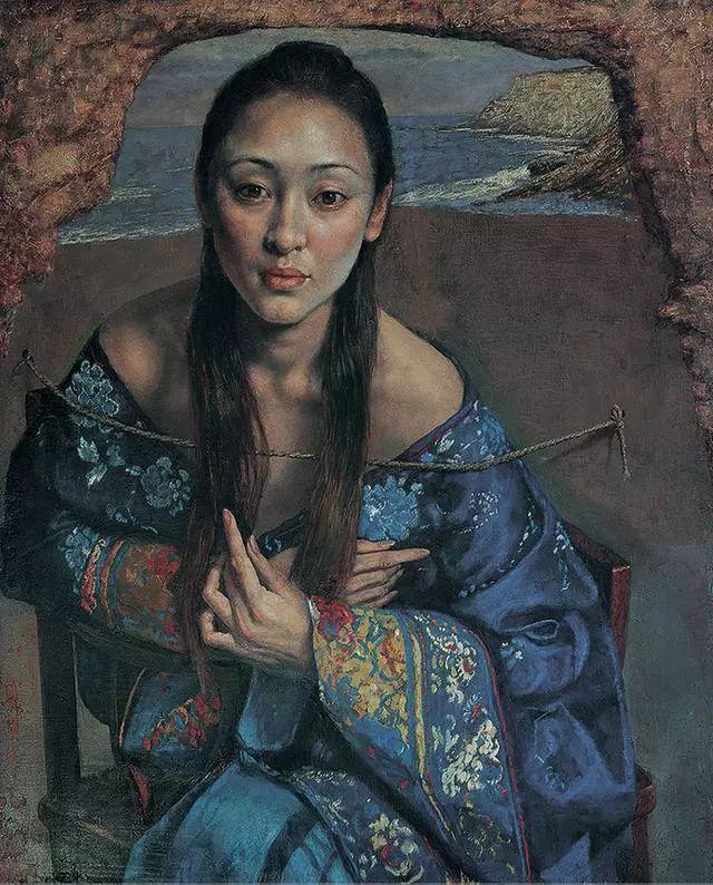 他的作品细腻而感人,画中的女孩充满着古典气质插图41