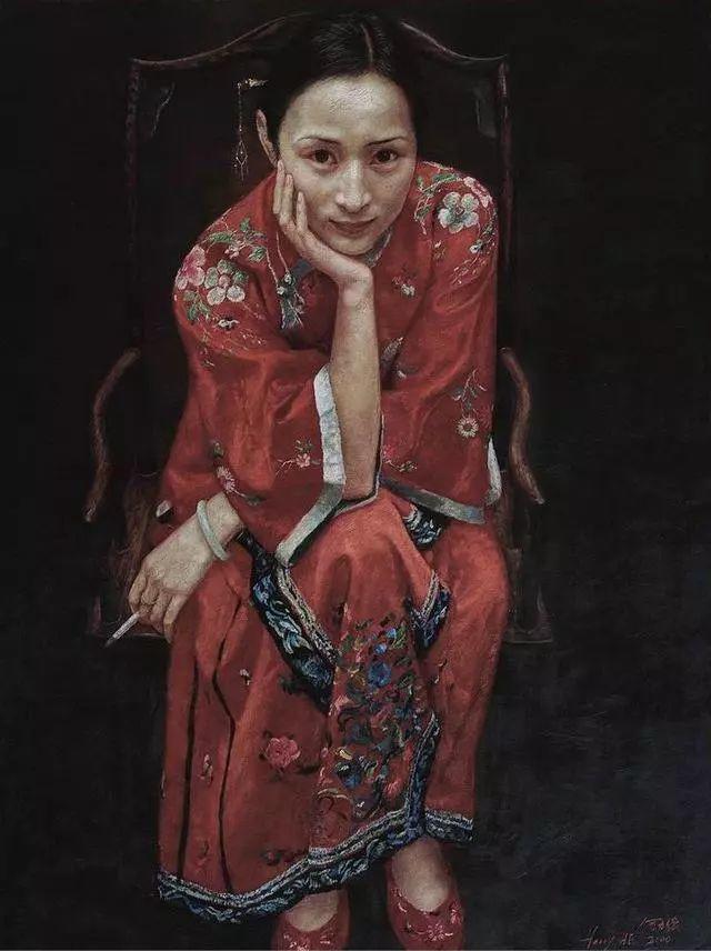 他的作品细腻而感人,画中的女孩充满着古典气质插图43