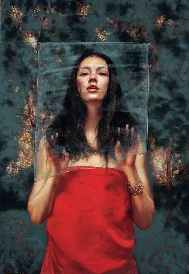 他的作品细腻而感人,画中的女孩充满着古典气质插图45