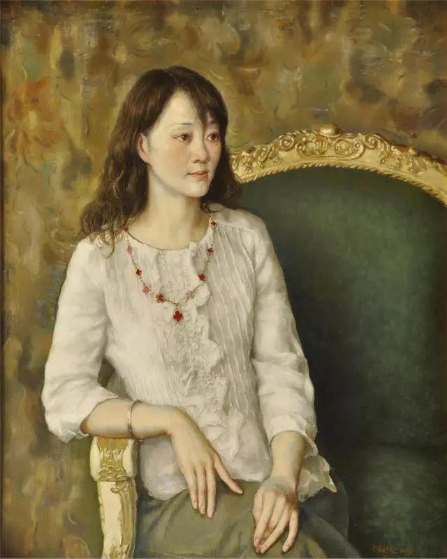 他的作品细腻而感人,画中的女孩充满着古典气质插图47