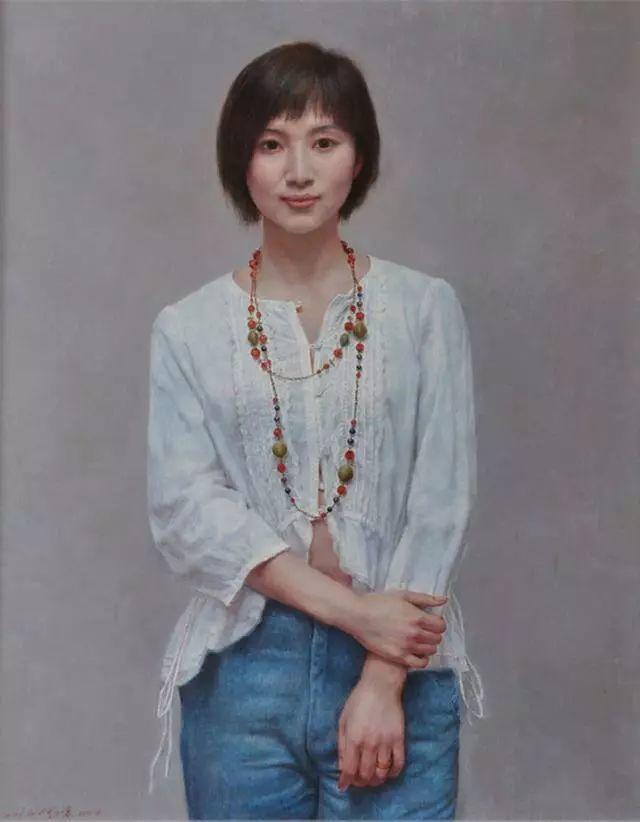 他的作品细腻而感人,画中的女孩充满着古典气质插图49