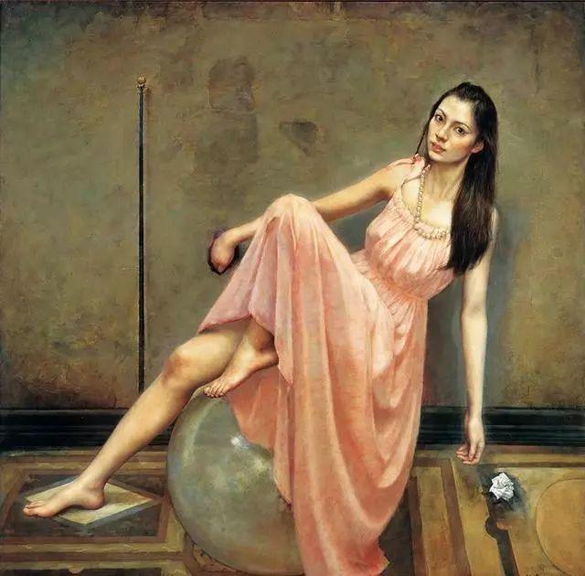他的作品细腻而感人,画中的女孩充满着古典气质插图51