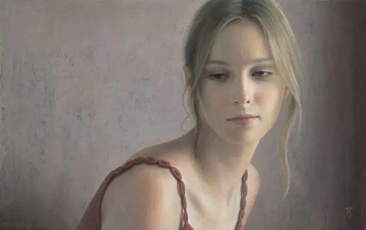 临摹学习达芬奇精华,古典技法画美女,太美了插图3