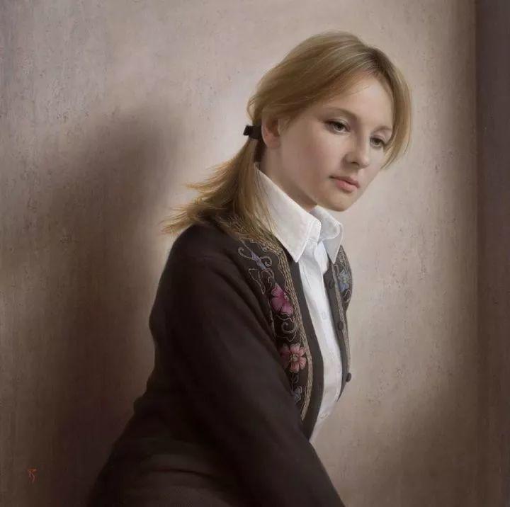 临摹学习达芬奇精华,古典技法画美女,太美了插图19