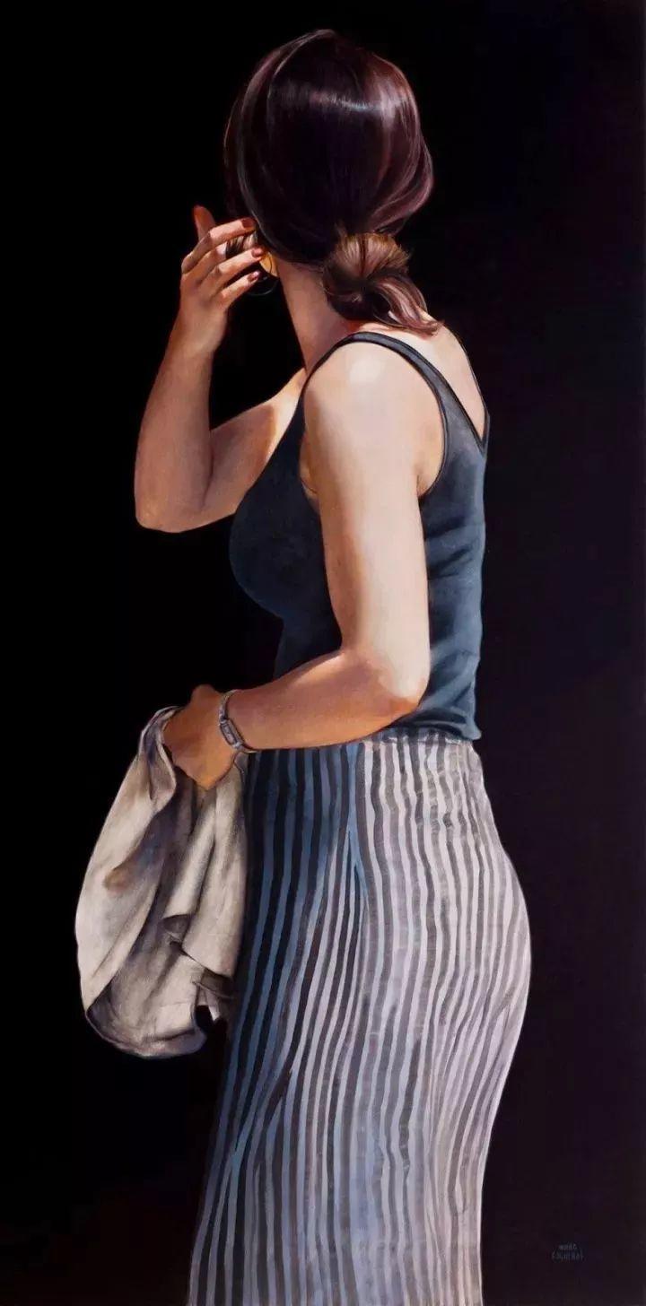 临摹学习达芬奇精华,古典技法画美女,太美了插图47