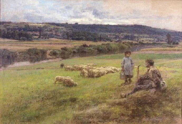 农村题材 法国画家Léon Lhermitte插图27