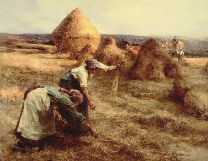 农村题材 法国画家Léon Lhermitte插图37