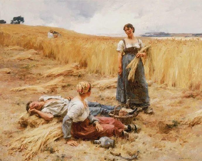 农村题材 法国画家Léon Lhermitte插图49