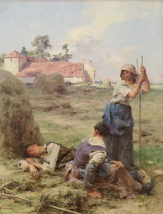 农村题材 法国画家Léon Lhermitte插图65