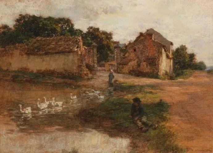 农村题材 法国画家Léon Lhermitte插图67