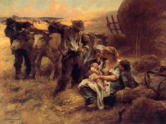 农村题材 法国画家Léon Lhermitte插图69