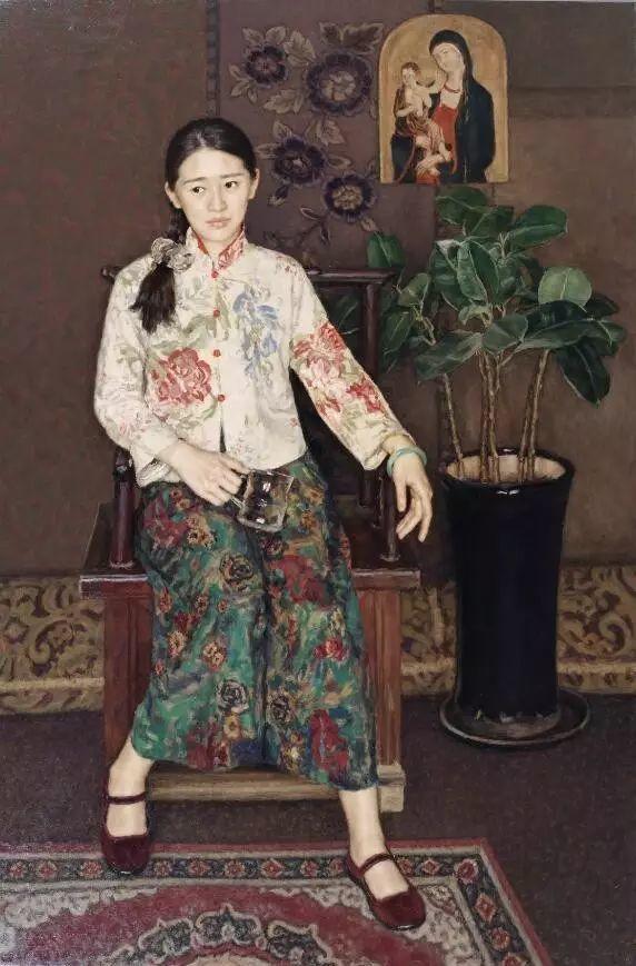 杨飞云油画中的美女,妩媚多情!插图1