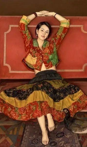 杨飞云油画中的美女,妩媚多情!插图3