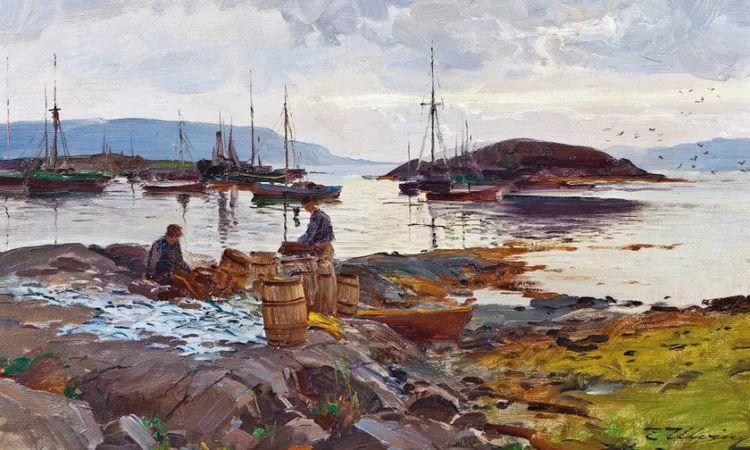 挪威Even Ulving风景油画作品插图
