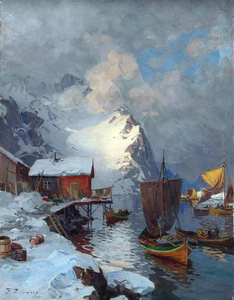 挪威Even Ulving风景油画作品插图1
