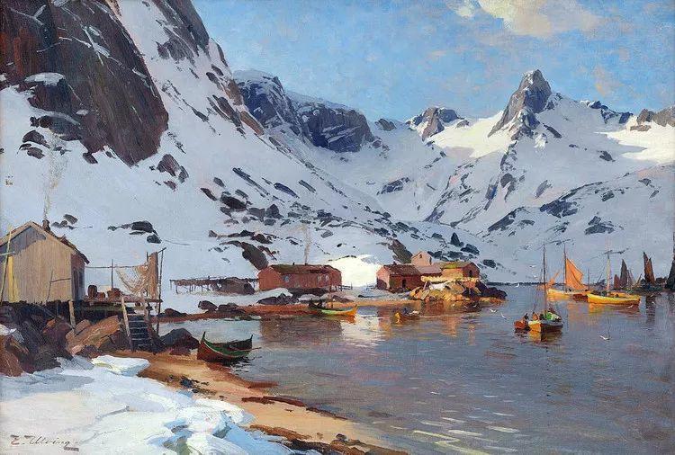 挪威Even Ulving风景油画作品插图3