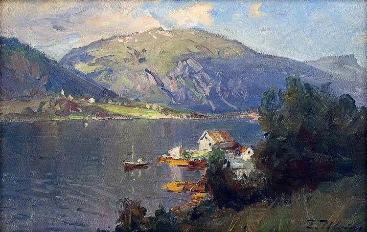挪威Even Ulving风景油画作品插图13