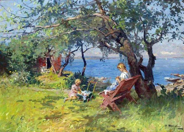 挪威Even Ulving风景油画作品插图15