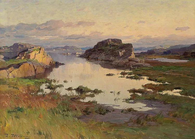 挪威Even Ulving风景油画作品插图20