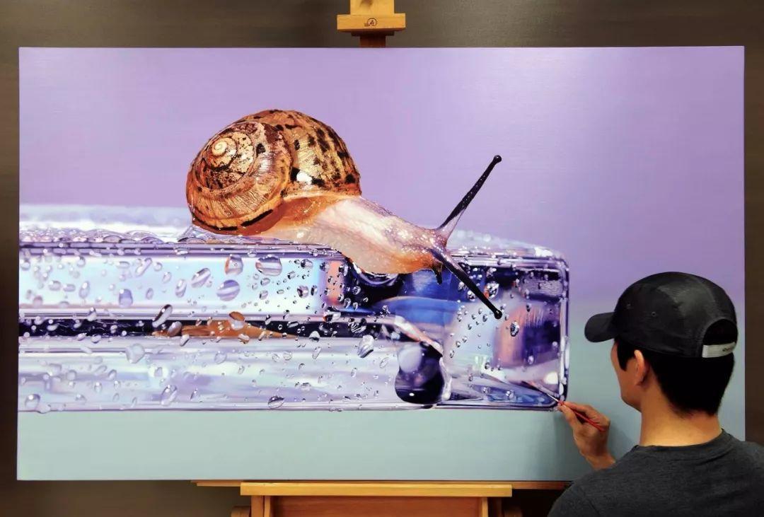 他是韩国超写实第一人,一幅画卖90万,看完简直怀疑人生!插图18
