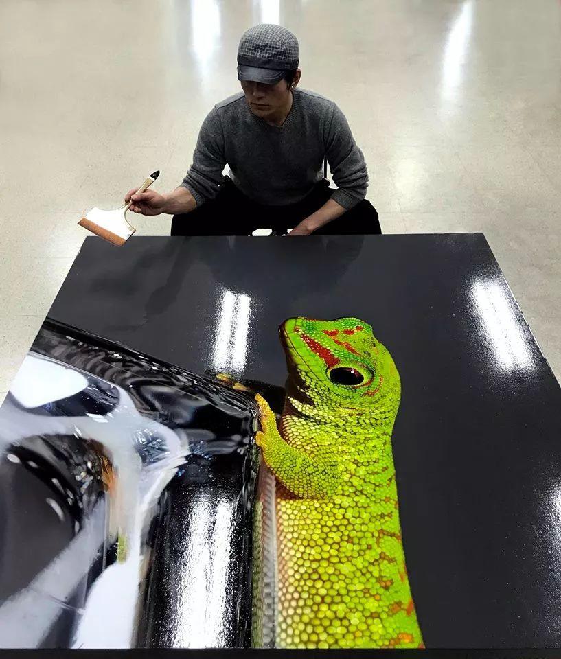 他是韩国超写实第一人,一幅画卖90万,看完简直怀疑人生!插图30