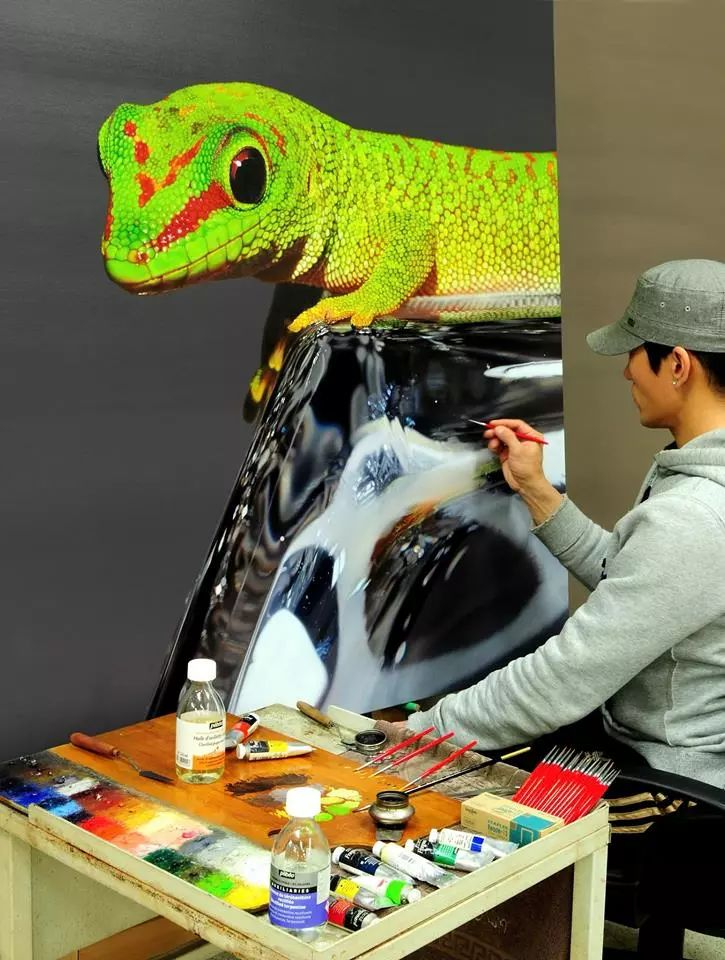 他是韩国超写实第一人,一幅画卖90万,看完简直怀疑人生!插图31
